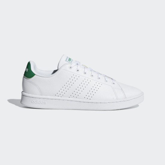 Adidas Advantage Shoes White / White / Green