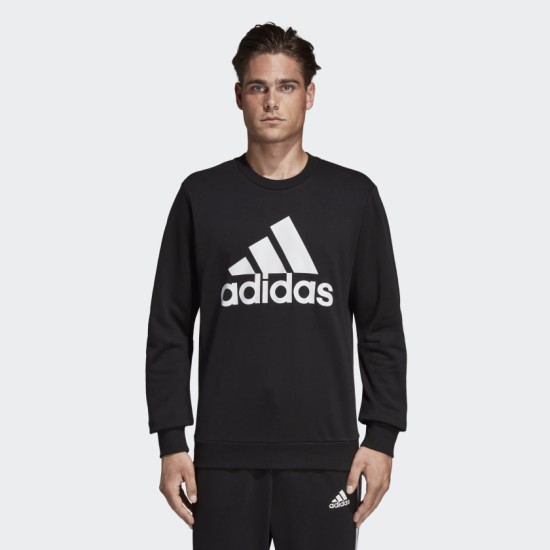 adidas Must Haves Crew Sweat Black / White