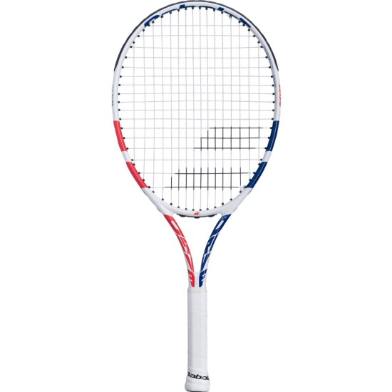 Babolat Drive 24 Inch Junior Tennis Racket White / Coral (2021)