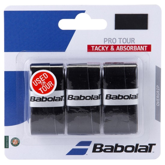 Babolat Pro Tour Overgrips (Pack of 3) Black