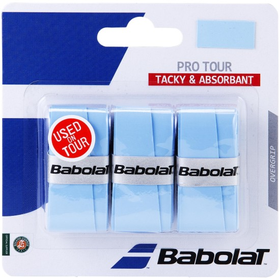 Babolat Pro Tour Overgrips (Pack of 3) Blue