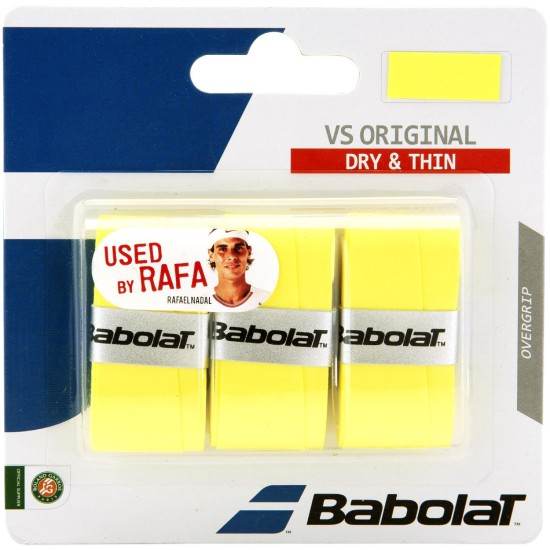 Babolat VS Original Overgrips (Pack of 3) Yellow