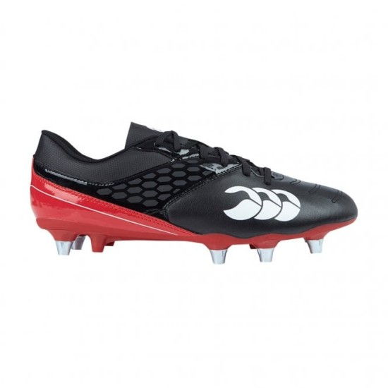 Canterbury Phoenix Raze Soft Ground Rugby Boots Black / Red