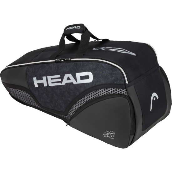 Head Djokovic Combi 6 Racket Bag Black White