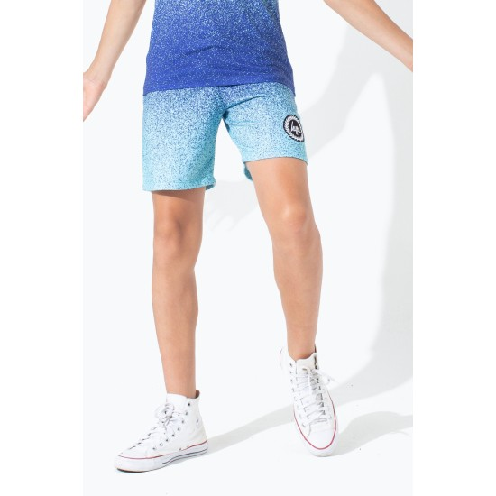 Hype Speckle Fade Kids Shorts Mint
