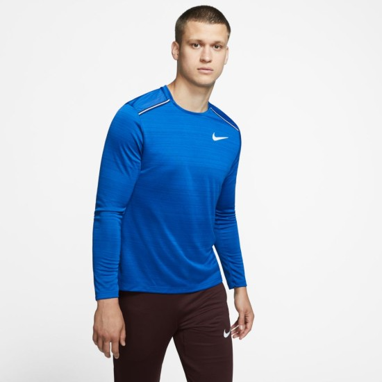 Nike Dri-FIT Miler Long Sleeve Running Top Royal Blue