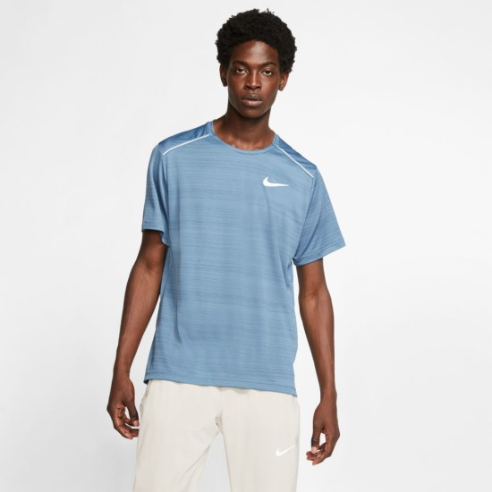 Nike Dri-FIT Miler Running Top Thunder Storm Blue
