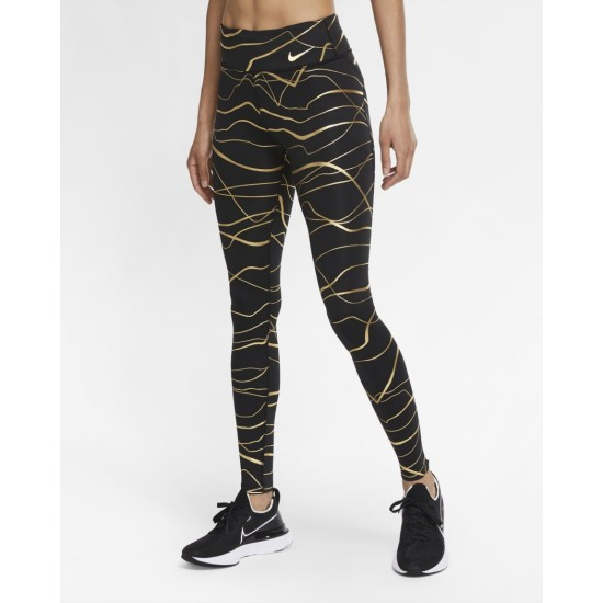 Nike Icon Clash Fast Tights Black / Metallic Gold