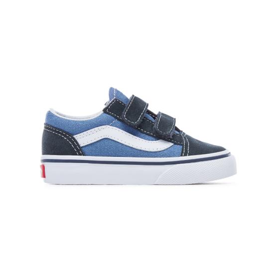 Vans Old Skool Velcro Toddler Blue